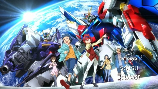 Gundam Build Fighters Opening Theme Screenshot - Sei, Reiji, Kousaka, Ral, Rinko