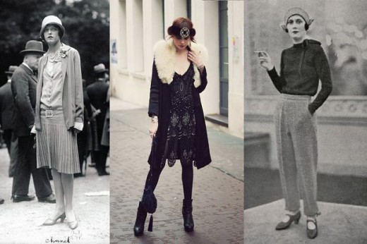 Fashion in the 20s was not the most advantageous for feminine silhouettes. Because of the emancipation, popularized fashion, which hid feminine shapes. Worn clothes with low waist, low-heeled shoes, pants. All the garments were still elegant and chic