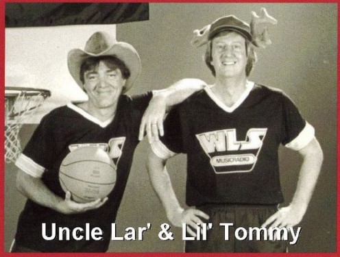 Uncle Lar and Little Tommy  on WLS 89 Lujack on left and  Tommy Edwards, right