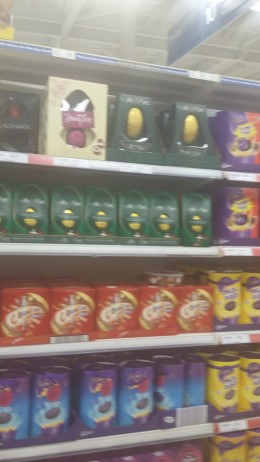 Buy your Chocolate Easter Eggs for Easter Sunday morning. On the shelves of all the shops in time for the Easter Bunny.