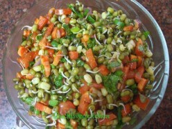 Sprouted Green Grams: Mung Beans Recipe for Breakfast