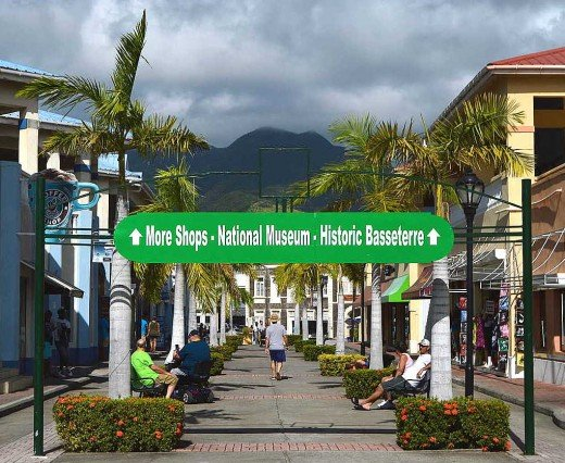 St. Kitts is growing in popularity because of its recent addition of a large cruise mall. © 2016 Scott Bateman