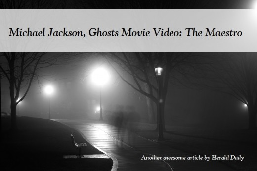 Michael Jackson as The Maestro and four other characters in the Ghosts Movie Video