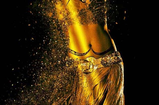 "The ""belly"" of the belly dancing is a visible dancing arena of undulations, flutters, pops, and rolls."