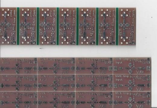 A printed circuit board of MMICs