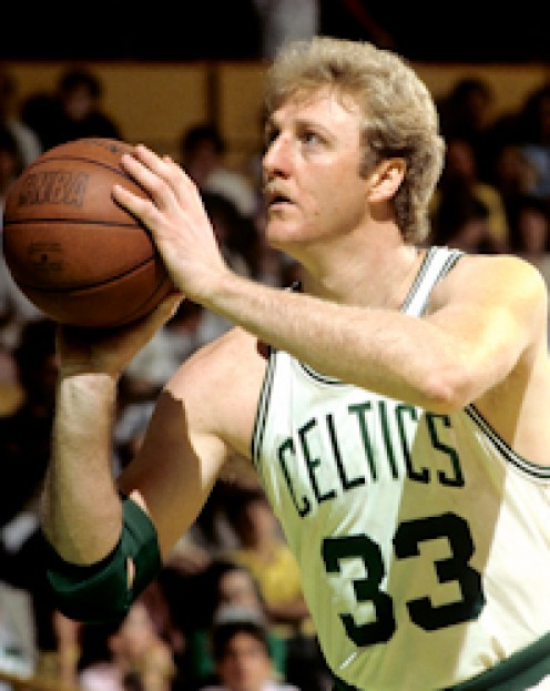 Larry Bird, Boston Celtics, 1985 Playoff Series with Detroit Pistons.