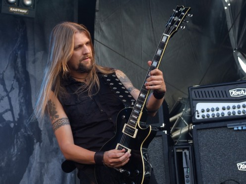 Guitarist Esa Holopainen seen here playing during a festival called Jurassic Rock in 2008.