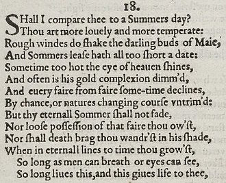 Shakespeare sonnet of 1609, the next stage in the development of Middle English, progress to a more understandable modern form