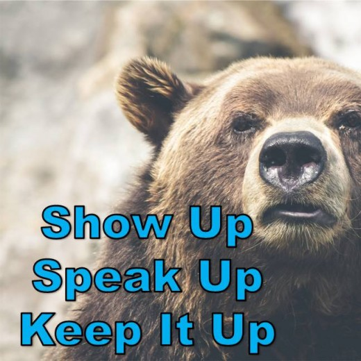 Show Up. Speak Up. Keep It Up.