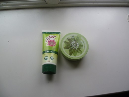 Some of the Aloe products I use