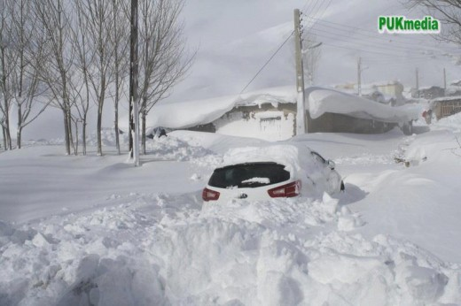 That's a car buried there!. Okay, the cars weren't as modern back then, but you get the picture