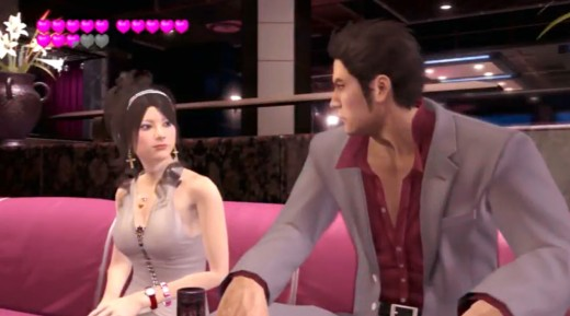 Chatting with attractive hostesses. A key part of practically every Yakuza game.