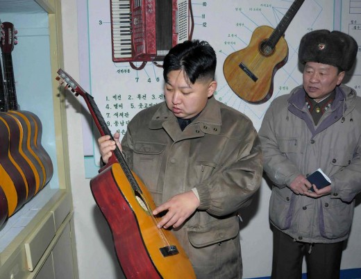 Kim Jong - un playing his own tune