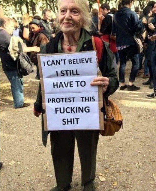 Granny at the Women's March