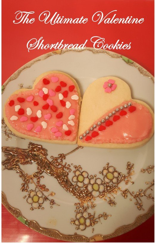 Delicious Valentine shortbread cookies