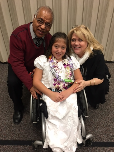 Our youngest grandchild, Lily, after her baptism.