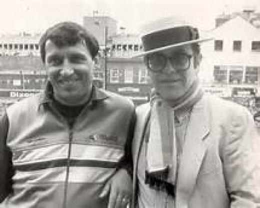 Elton with Grahm Taylor 1970s