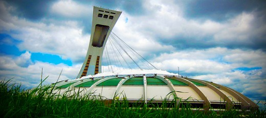 The underused Montreal Olympic Stadium known, without affection, as the Big Owe.