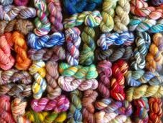 Different types of wool yarns