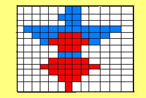 13 vertical rows or pins. 13 horizontal rows