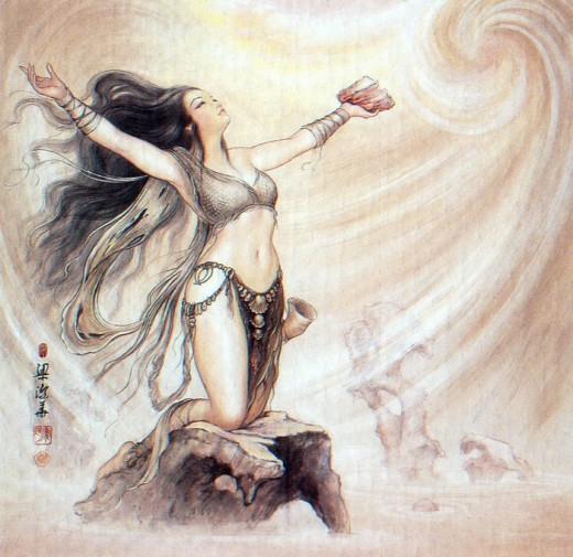 In Chinese mythology Ishtar is known as Nuwa