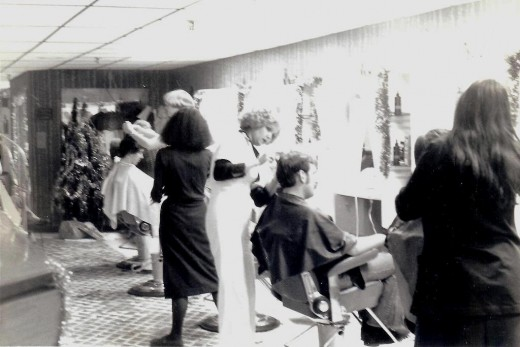 Trendy Hair Salon in the 1970s