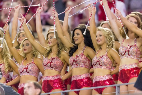 The University of Alabama Crimson Tide cheerleading squad