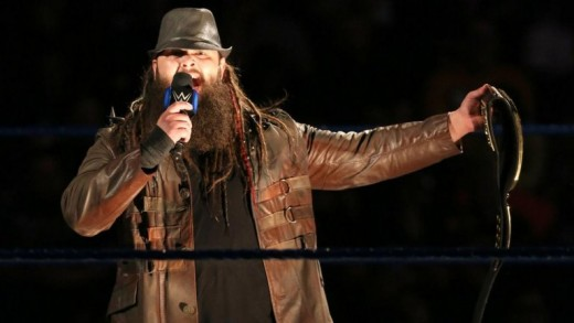 Bray Wyatt cutting a promo on Smackdown about Sister Abigail helping to bring him to the promised land, which is the WWE Championship. Vince McMahon must not be behind this.