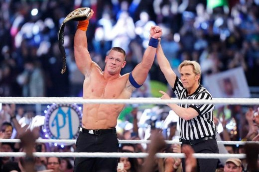 THE CHAMP IS HHHEEERRREEEE!!! John Cena ties Ric Flair's 16 reigns at the Royal Rumble when he defeated AJ Styles for the WWE Championship.