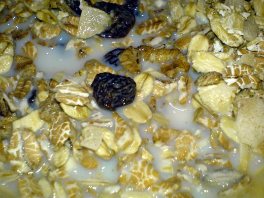 Cold muesli with milk is not very appealing and the oats can be hard to digest. Soaking the mix overnight softens the oats and make the dish much more palatable, especially after adding nuts, fresh fruit, spices and various flavors before serving.