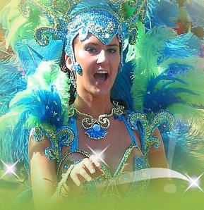 BRAZILIAN DANCER IN COSTUME