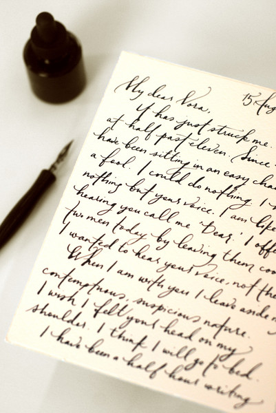 Hand-written love letters never go out of style.