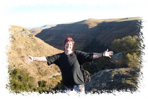 Me on the Drakensberge at Van Reenen, KZN, South Africa