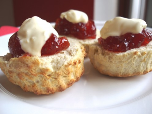 Cream scones are perfect for a Low Tea Party