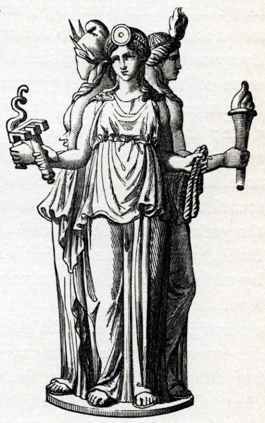 Hecate was a triple goddess of the crossroads. She signifies transitions and times of great change.