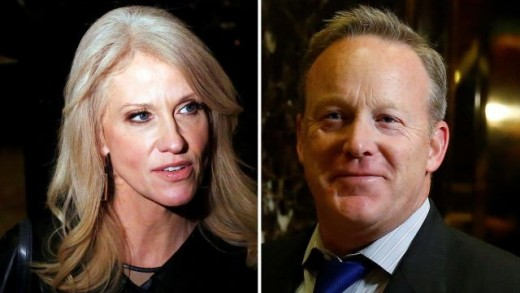 KellyAnne Conway and Sean Spicer are not doing much good as far as the White House under President Trump is concerned.