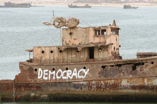 Sometimes the ship of state becomes a wreck.
