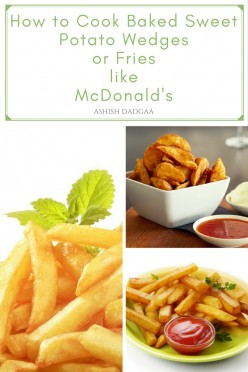 How to Cook Baked Sweet Potato Wedges or Fries Like McDonald's