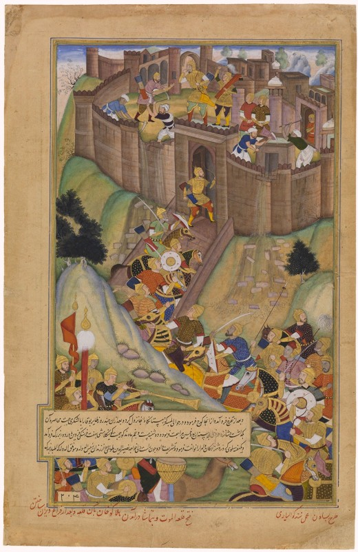 Depiction of the capture of Alamut by Hulagu Khan.