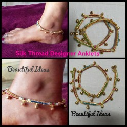 An Illustrated Guide for making Silk Thread designer ANKLET