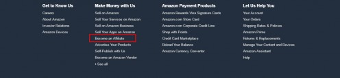 Another way you can earn is by placing an Amazon capsule in your article this will allow you to link to your Amazon referral program, it is free to sign up.. Go To Amazon and scroll all the way down until you see this, now click on Become an Affilia