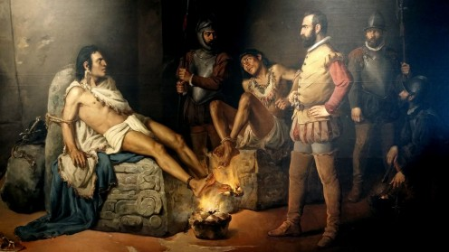 The torture of Cuauhtemoc