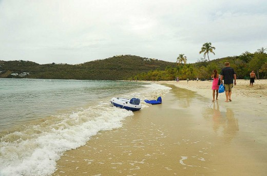 Magens Bay beach is the most popular beach on St. Thomas.