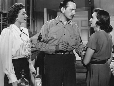 Myrna Loy, Fredric March and Teresa Wright in 'Best Years'