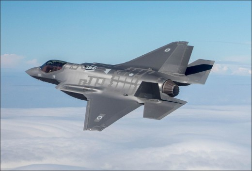Israeli F-35 over the skies of the Middle East.