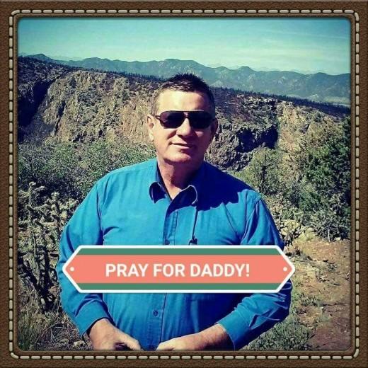 Praying for healing of cancer.