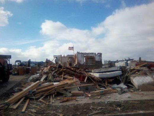 Tornado devistation