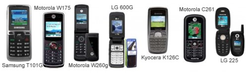 Some of the better looking models in Tracfone - Price $9.99-59.99