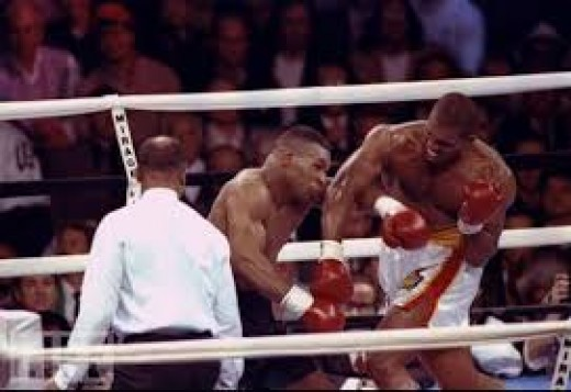 Razor Ruddock fought Iron Mike Tyson twice. He lost both bouts but put up a very game effort.