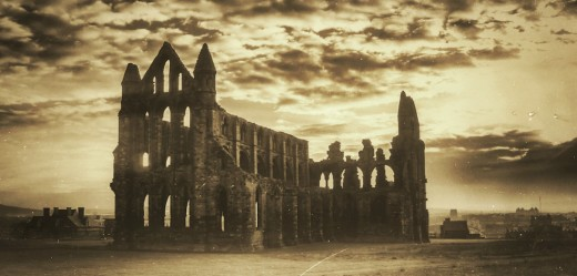 Whitby Abbey, established by King Oswy's sister Hilda, site of the synod that decided on the fate and direction of the Church in the 7th Century - home of Caedmon